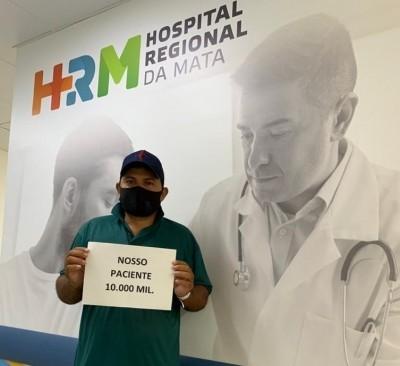 José Quitério reside em União dos Palmares e foi o paciente 10 mil a ser atendido no HRM