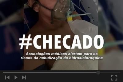 Não existem estudos sobre a nebulização de hidroxicloroquina; especialistas alertam para os riscos